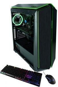 CUK Mantis Custom Gaming PC (Intel i3-9100F, 16GB DDR4 2666 RAM, 500GB NVMe SSD, NVIDIA GeForce GTX 1060 3GB, 500W Bronze PSU, Windows 10) The Best New VR Ready Tower Desktop Computer for Gamers